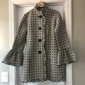 Maestro Lightweight Ruffle Trim Coat